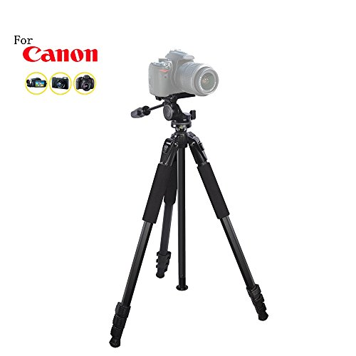 80 inch Heavy Duty Portable tripod for Canon EOS-1D X Mark II, EOS-1Ds, EOS-1Ds Mark II, EOS-1Ds Mark III, EOS-1D X, EOS-1D Digital SLR Cameras: Travel tripod by iSnapPhoto