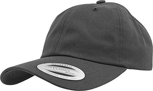 Flexfit Gorra de Béisbol Yupoong Algodón Unisex para Hombre y Mujer, no Rígida con Cierre de Latón gris oscuro