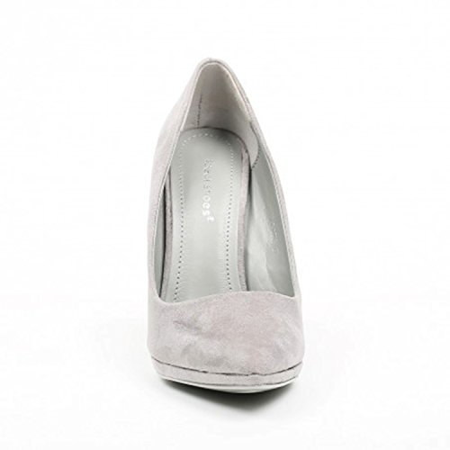 King Of Shoes Women's Court Shoes Grey kwK1lF6r2