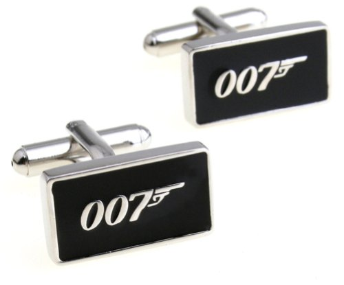 Bond James 007 Costumes (JAMES BOND 007 Silvertone/Black Enamel Metal)