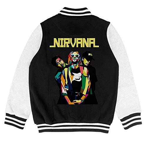 (Kids Girls Boys Baseball Jacket Cotton Casual Cool Unisex Stylish Sweatshirt)