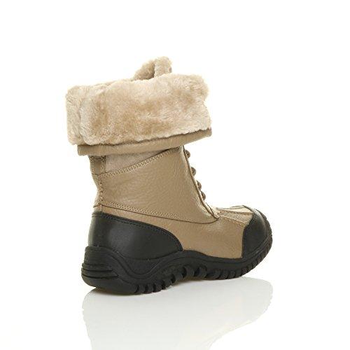 Ajvani - Botas de nieve mujer Marrón - Camel Tan
