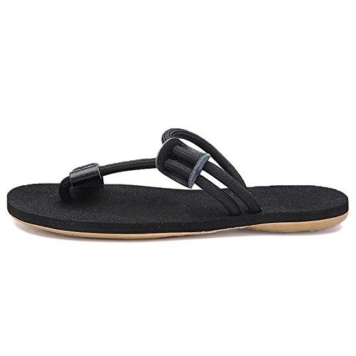 SHANGXIAN Zapatos hombres de oficina al aire libre y el trabajo de carrera y deber atlético vestido Casual Nappa cuero sandalias negro / marrón Black