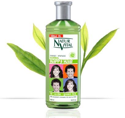 NATUR VITAL HAPPY HAIR HYPOALLERGENIC SHAMPOO FOR CHILDREN-PEACH / GREEN TEA / MARIGOLD 16.9 OZ/500 ML (PEACH)
