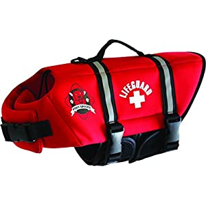 Paws Aboard R1400 Fido Pet Products Neoprene Doggy Life Jacket, Medium, Red