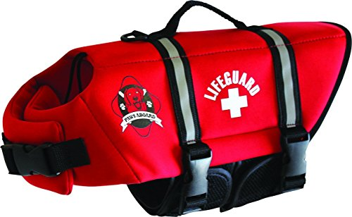 Paws Aboard Neoprene Doggy Life Jacket Large, Red