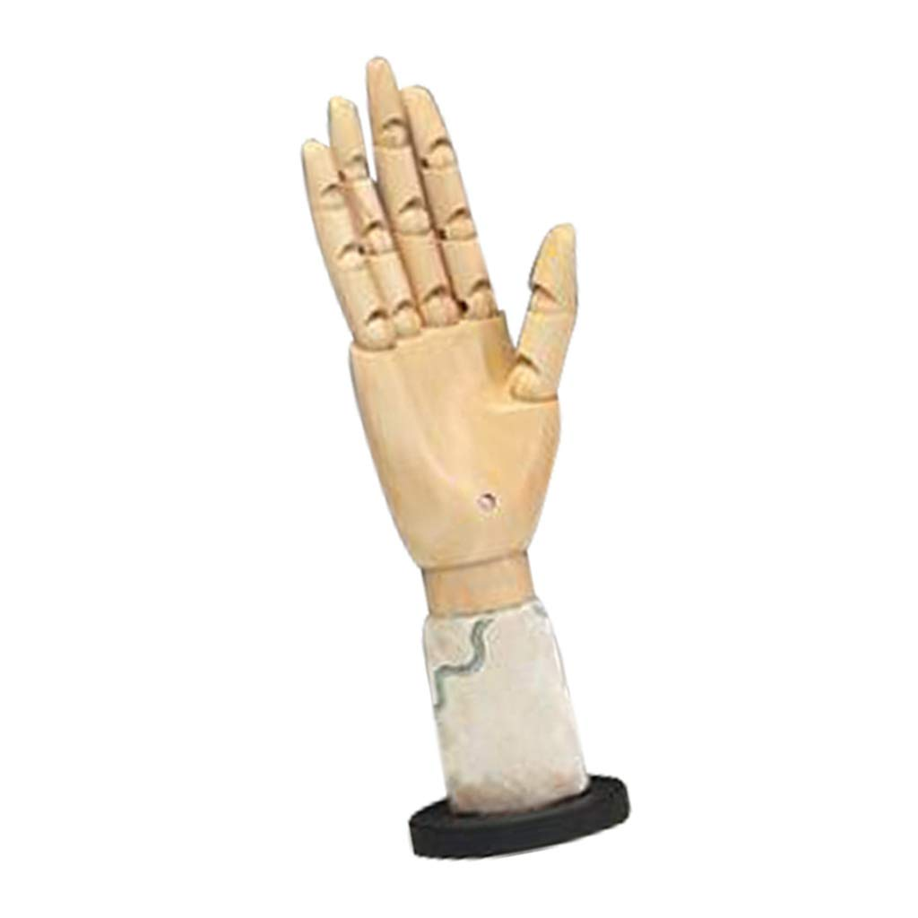 Jewelry Display Short-Flower4 Perfect for Drawing CUTICATE Jointed Posable Sectioned Wood Mannequin Hand Model with Flexible Fingers Sketch Painting