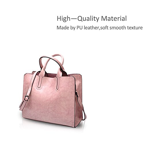 Ladies Bag Bag PU Wine Messenger amp;Doris Shoulder Crossbody Red Pink Bag Leather Tote Purse Nicole Handbag q0xgSwY