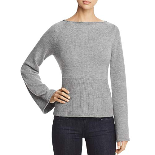 Elie Tahari Women's JAZMA Sweater, Grey Melange, M