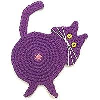 Purple Cat Butt Coasters by Yeeli's Little Corner