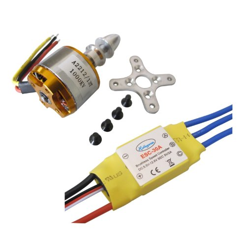 Hobbypower A2212 1000kv Brushless Motor + 30a ESC for Multicopter 450 X525 Quadcopter