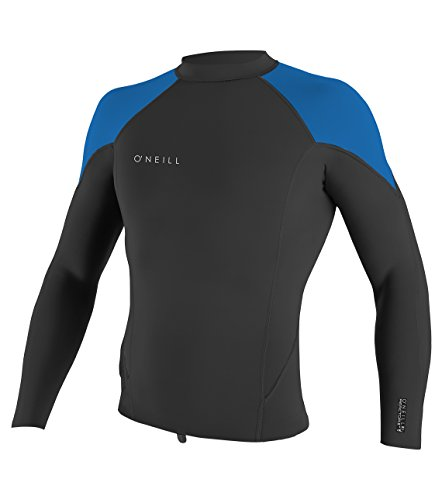O'Neill Youth Reactor-2 2mm Long Sleeve Top, Black/Ocean, 12