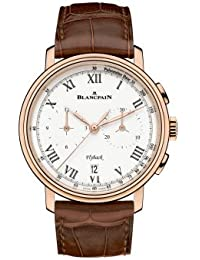Chronograph Flyback Pulsometre White Dial Brown Leather Mens Watch 6680F-3631-55B