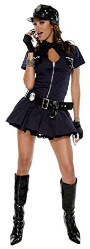 Forplay Womens Police Playmate Naughty Officer Outfit Fancy Dress Sexy Costume, XL (10-14) (Officer Fancy Dress)