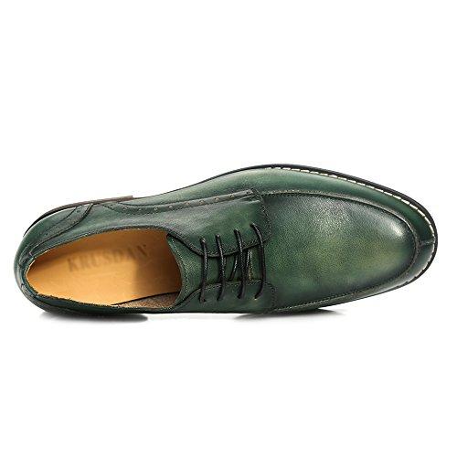 Vera Da In Men Da Formale Uomo Abito Derby MERRYHE For Pelle Green Brogue Shoes Lavoro qvwYA7