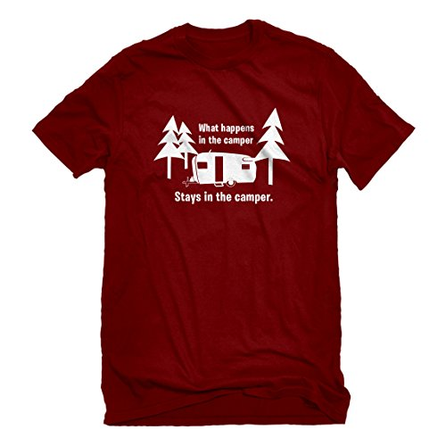 be3fae59928d Indica Plateau Mens What Happens in The Camper Small Red T-Shirt
