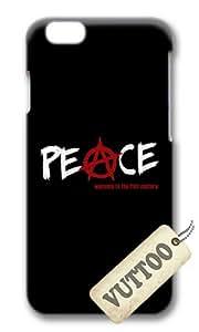 iPhone 6 caso, VUTTOO iPhone 6 con foto: paz sigio para Apple iPhone 6 11,94 cm - PC caso duro