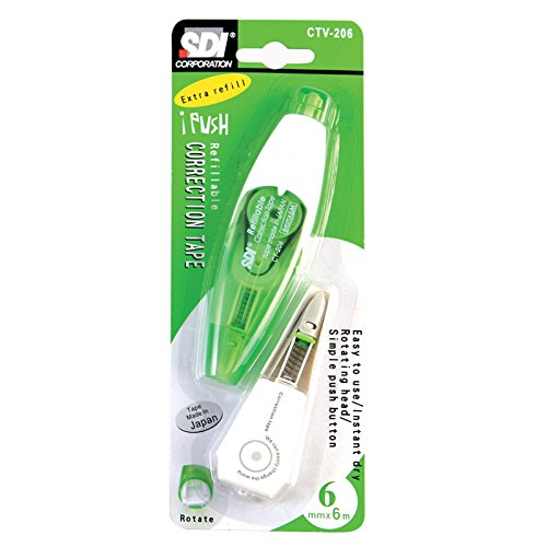 SDI Correction Tape Refillable CT-206 with 1 pcs. Refill (CTV-206), Pack 2 set