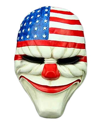 King Ma Payday2 Unisex Cosplay Resin Mask Halloween Costumes -