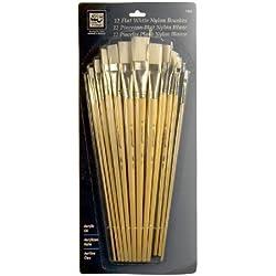 Loew Cornell 1809 12-Piece Brush Set, White Taklon