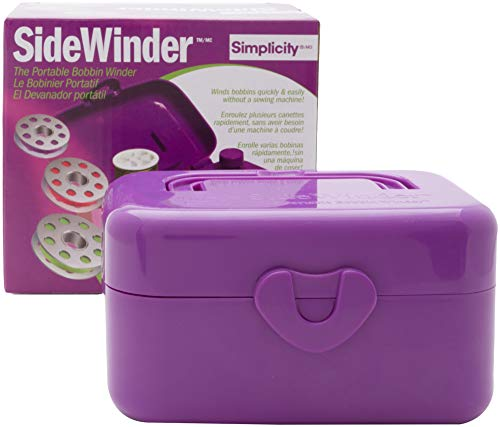 (Simplicity 88179PRPLA Compact Purple Portable Sidewinder Bobbin Winder, 5.5'' L x 4'' W)