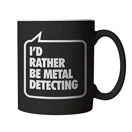 I'd Rather be Metal Detecting, Black Mug
