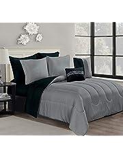 Casa Platino 9-Piece Bed-in-A-Bag Comforter Set with Sheet Set, All Season Comforter Set Includes Bed Sheet Set, Decorative Pillows