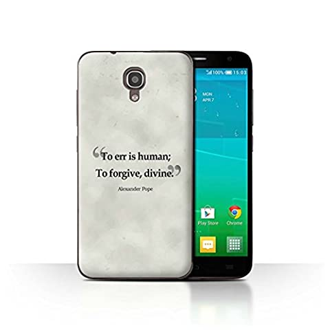 STUFF4 Phone Case / Cover for Alcatel Idol 2S / Alexander Pope Design / Famous Quotes Collection - 2s Ap
