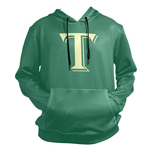 Aibileen T Letter for Theodore Halloween Costume Hoodie,Fashion Sweater,Warm and Durable,Men Women Boy Girl Kid Youth,Green