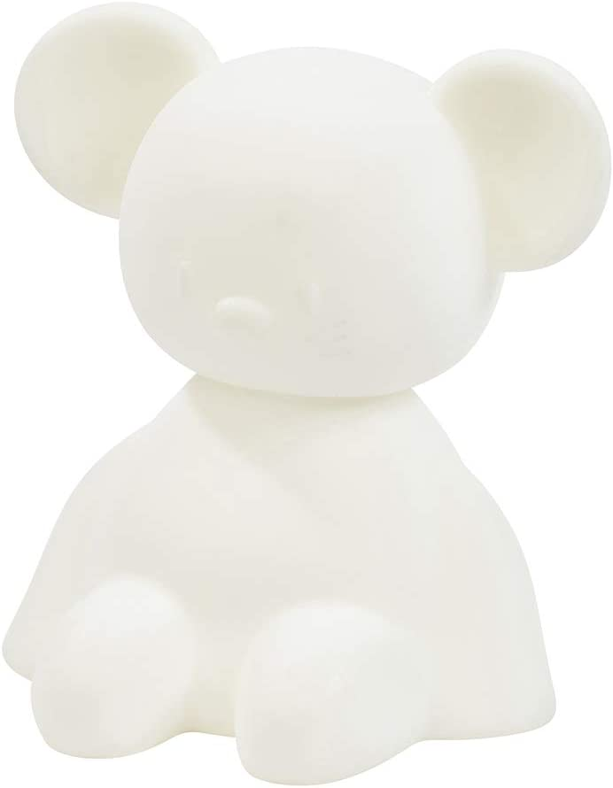 13,5 x 10,5 x  14 cm Nattou Luz locturna LED de Conejo de Silicona Blanco Sin BPA 7 colores y 4 intensidades