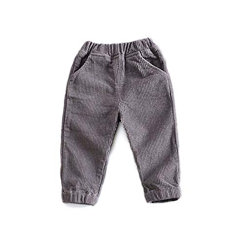 HAXICO Unisex Kids Corduroy Pants Todder Baby Boys Girls Casual Elastic Waist Fit Pants
