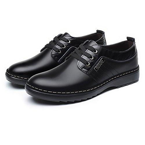 Up Matte pour Oxford Doublés Shoes en Cuir de pour Casual Respirant Sport en Cuir Upper Véritable Cuir Chaussures Hommes Business Black en Lace Hommes Chaussures xF0Oq4wCC