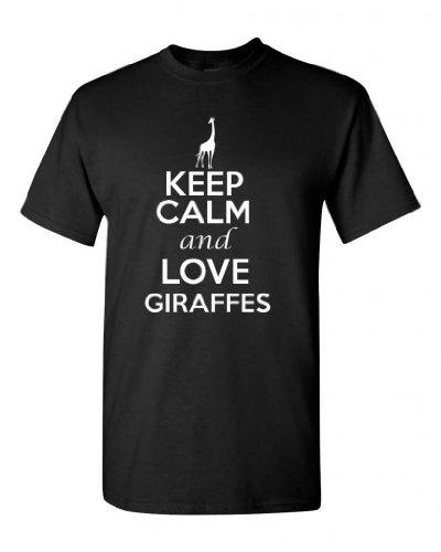 Ptshirt.com-19160-Keep Calm And Love Giraffes Adult Unisex T-Shirt Tee-B00JL60B44-T Shirt Design