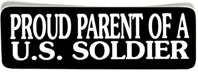 3pcs Proud Parents of a U.S Soldier Hard Hat Sticker / Decal / Label Tool Lunch Box Helmet Funny Flag /Bumper / Truck / Sticker / Decal 2""