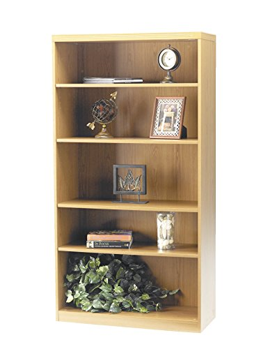 Mayline AB5S36LMA Aberdeen Bookcase, 5 Shelf, Maple Tf
