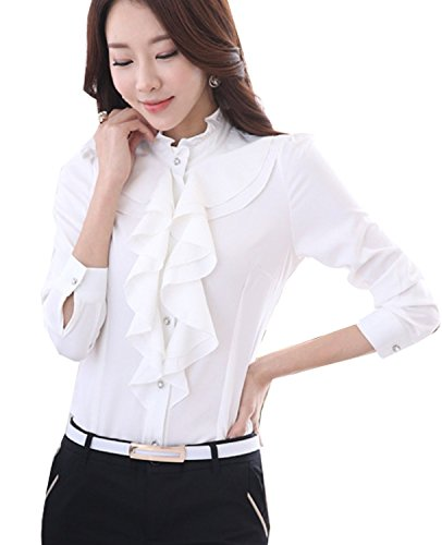 ecf41c72c1495 We Analyzed 3,098 Reviews To Find THE BEST White Ruffle Blouse