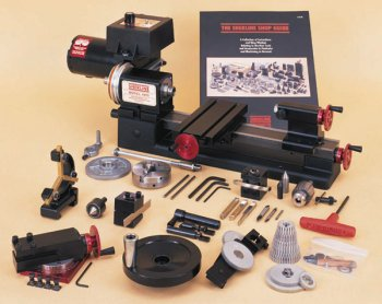 "3.5"" x 8"" lathe, chuck and C accessory package, inch"