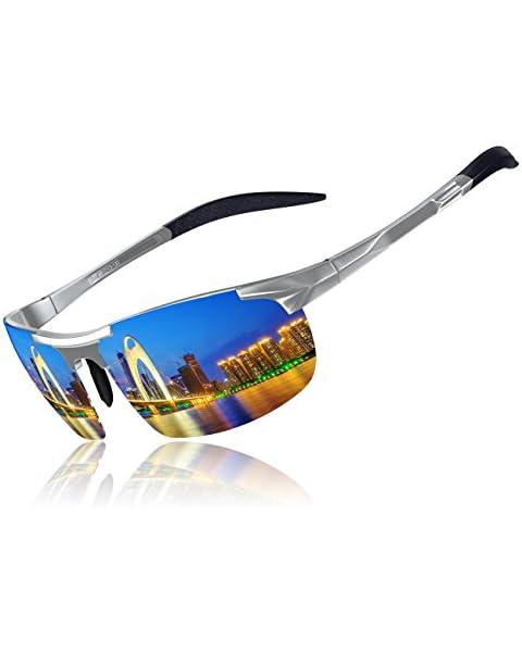 56208f477f KITHDIA Driving Polarized Sunglasses For Men UV Protection Lightweight  Al-Mg Golf Fishing Metal Sunglasses
