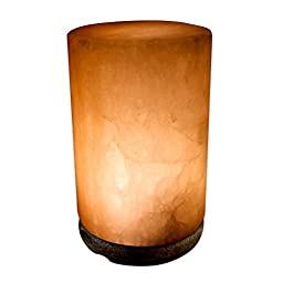 Crystal Allies Gallery: CA SLS-CYD-S Natural Himalayan Cylinder Salt Lamp w/ Dimmable Switch, 6ft UL-Listed Cord and 15-Watt Light Bulb