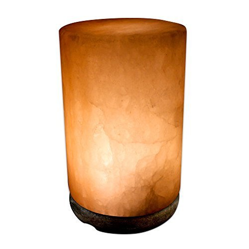 Crystal Allies Gallery: CA SLS-CYD-S Natural Himalayan Cylinder Salt Lamp w/ Dimmable Switch, 6ft UL-Listed Cord and 15-Watt Light Bulb by Crystal Allies (Image #2)