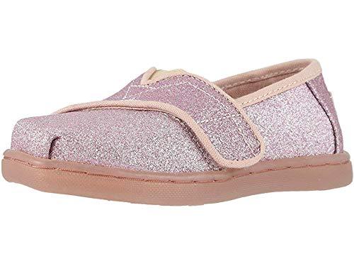 TOMS Kids Baby Girl's Alpargata (Infant/Toddler/Little Kid) Ballet Pink Glitter 6 M US Toddler -