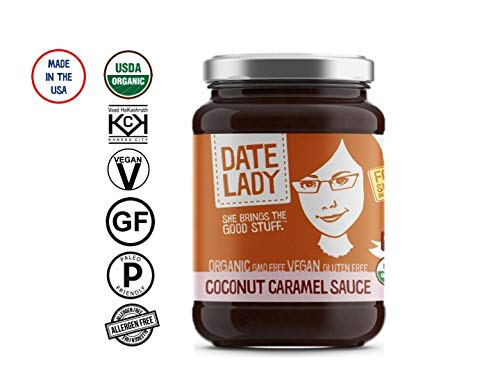 Date Lady Coconut Caramel | NO HFCS, ORGANIC, VEGAN, GLUTEN-FREE & KOSHER | For Coffee, Pancakes, Oatmeal (1 Pack)