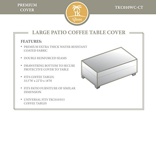 Premier/Hampton/Aruba Rectangle Coffee Table Outdoor Protective Cover by TK Classics
