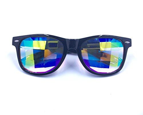 PREMIUM Kaleidoscope Glasses - Best Rave Festival EDM Diffraction Glass - Edm Sunglasses