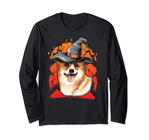 Corgi Costumes For Halloween - Happy Halloweenie Gift Long Sleeve T-Shirt -
