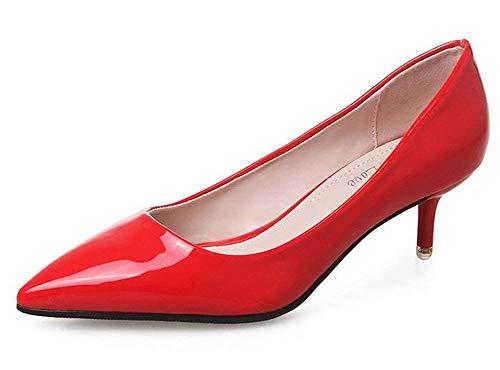Rouge En Oudan Avec Rouge Les Cuir Taille Mince Documentaire coloré 36 Chaussures EEwxOqXz