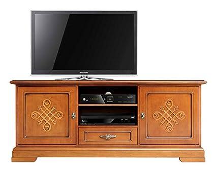 Mobile porta TV classico con fregio, decorazione sulle ante, robusto ...