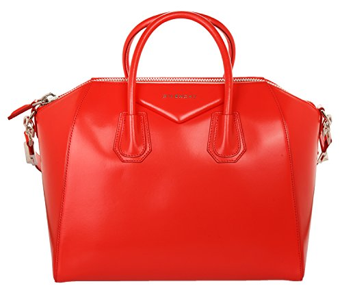Givenchy Women Leather bag Antigona Medium Coral red - Red Givenchy