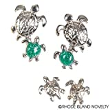 RIN001 1PC, TWIN SEA TURTLES STUD EARRINGS