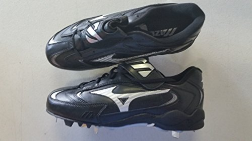 Mizuno New FB44LBK Vintage Pro 9 Spike Low Mens 6.5 Black Metal Baseball Cleats